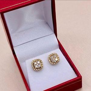 14k yellow Gold 1.05 TCW Daimond earrings